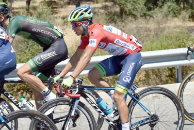 Race Leader, Esteban Chaves in action during Stage 4 of the 2015 Vuelta Espana