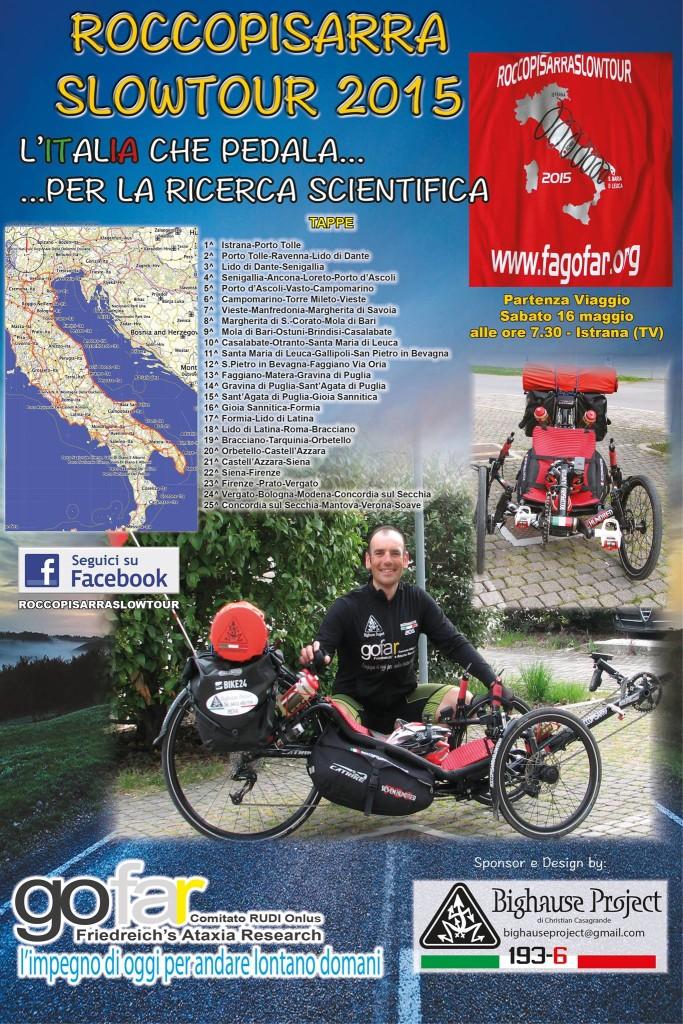 roccopisarraslowtour 2015 pedala per la ricerca scentifica