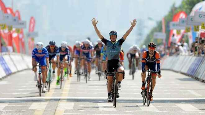Tour of China, 4° tappa:  vittoria di Mattia Gavazzi