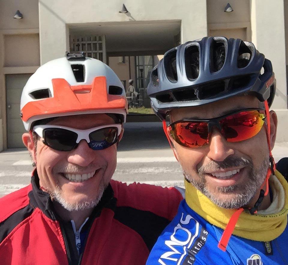 I cicloturisti Pagni Paolo e Enrico Carrara