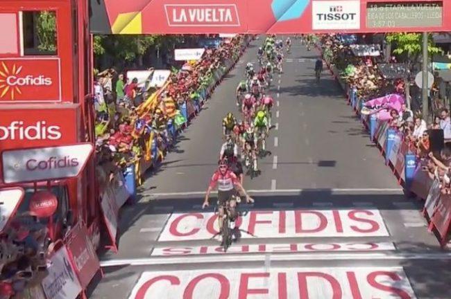 Vuelta espana. Trionfo di Jelle Wallays
