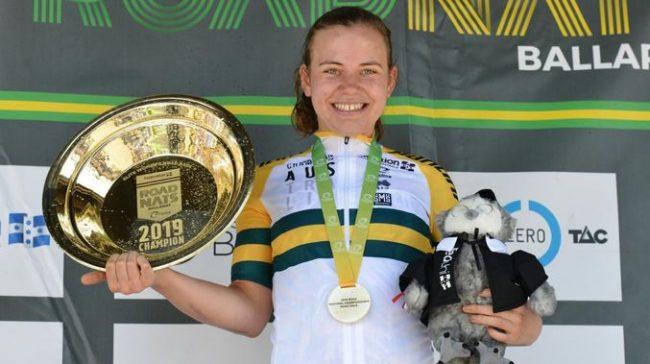 Successo di Sarah Gigante nel campionato nazionale australiano di ciclismo .