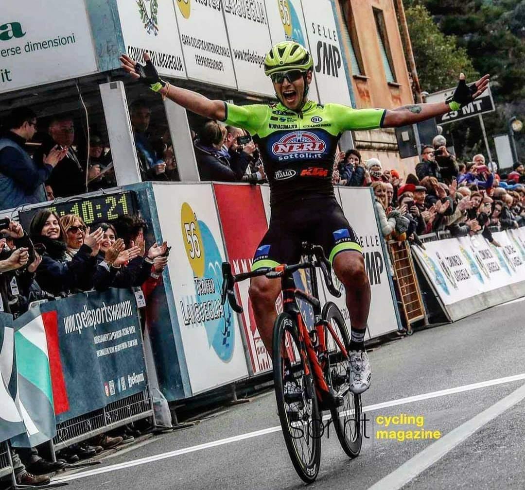 Impresa di Simone Velasco al Trofeo Laigueglia.