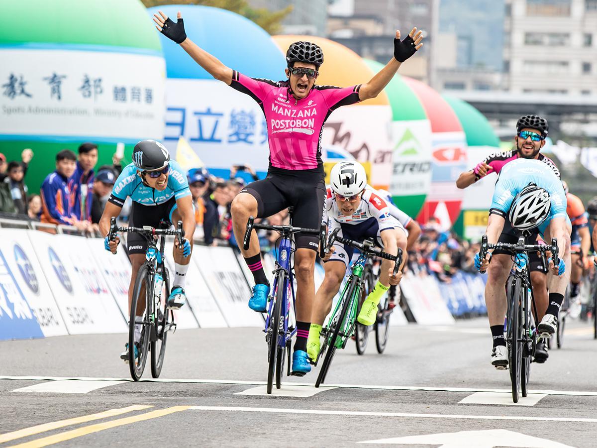 Trionfo di Gomez Penaloza  nella prima tappa del Giro di Taiwan .