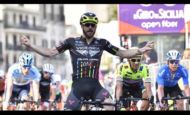 Successo di Riccardo Stacchiotti nella prima tappa del Giro di Sicilia.