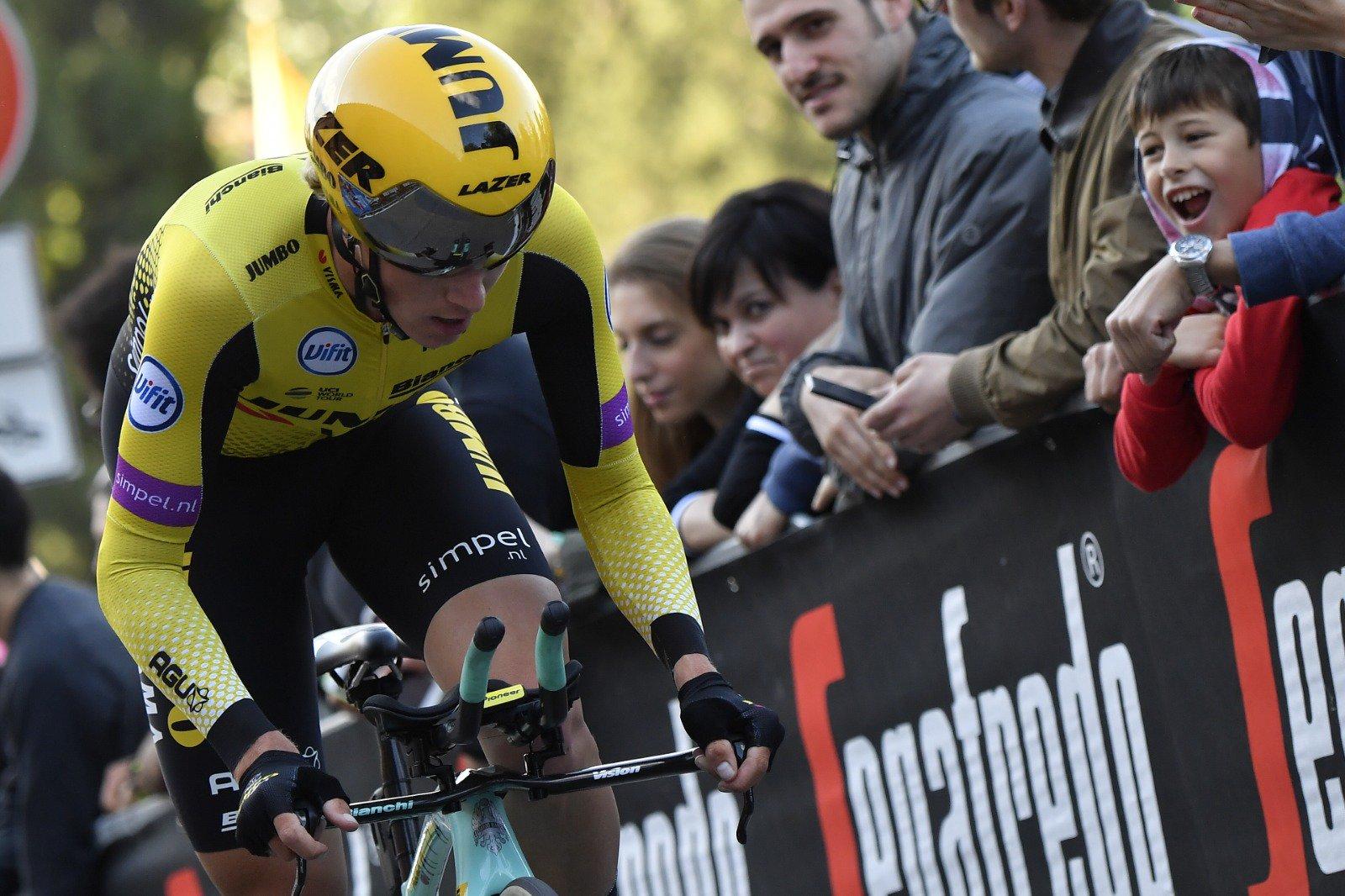 Super vittoria di Primoz Roglic nella cronometro di San Marino.