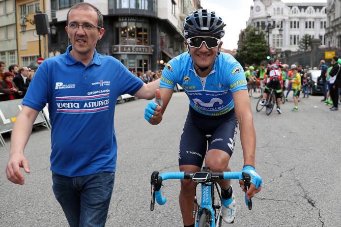 Trionfo in solitaria di  PINTO Edgar alla Vuelta a Asturias.