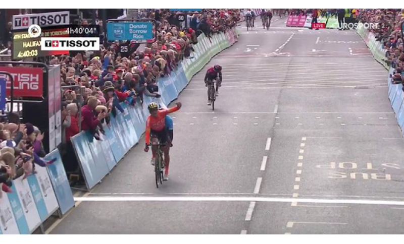 Successo di  Greg Van Avermaet  nel  Tour dello Yorkshire.