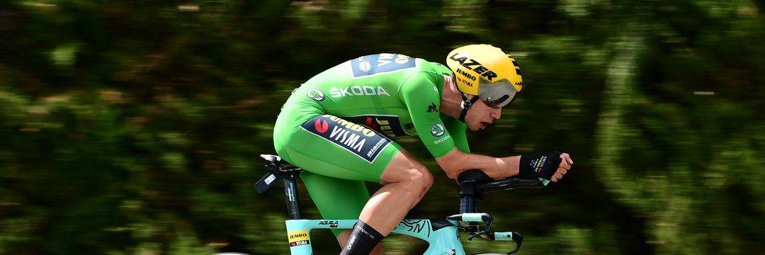 Wout Van Aert è il nuovo campione belga nella prova contro il tempo.