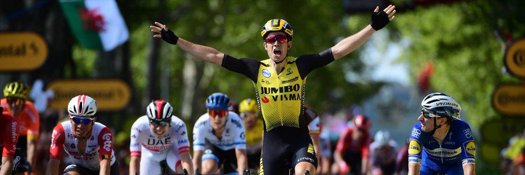 Sprint vincente di Wout Van Aert #TourdeFrance