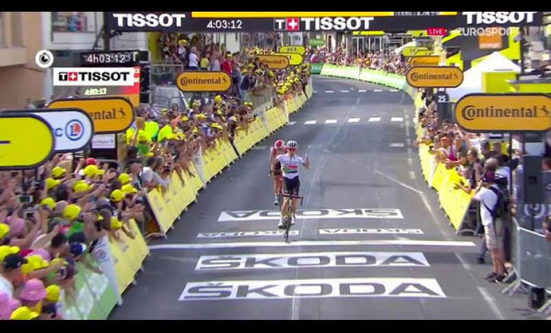 Trionfo di Darly Impey nella nona tappa del Tour de France.