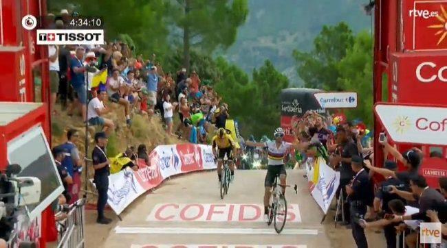 Super vittoria di Alejandro Valverde nella settima tappa della Vuelta Espana.