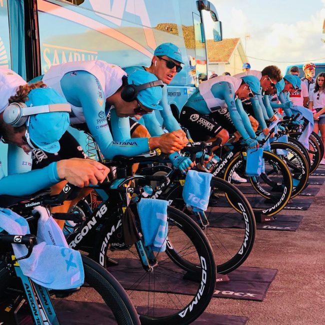 Successo del Team Astana nella prima tappa della Vuelta Espana.