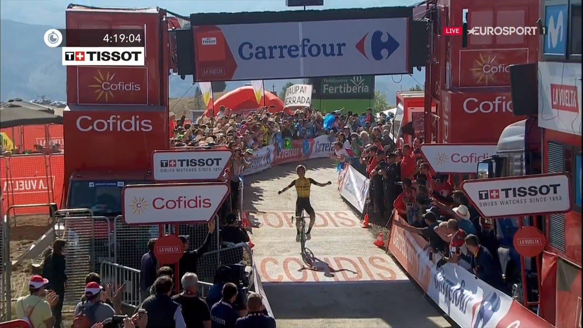 Successo di Sepp Kuss alla Vuelta espana.