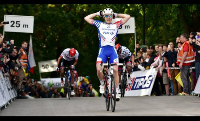 Sprint vincente di Arnaud Demare al Giro di Slovacchia.