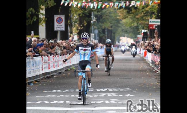 Sprint vincente di Andrea Bagioli al Piccolo Lombardia.